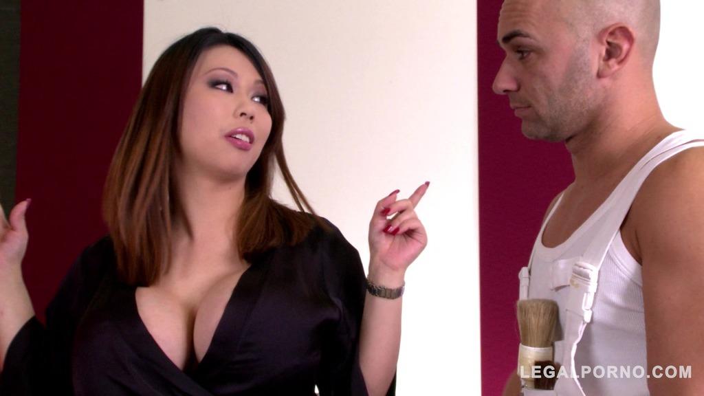 Curvy Hardcore goddess Tigerr Benson double penetrated until she orgasms GP819