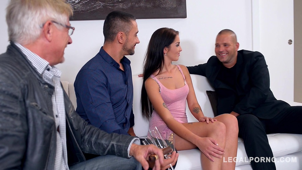 Voracious brunette Loren Mina K Medinardi cant wait to feel two dicks inside her GP659