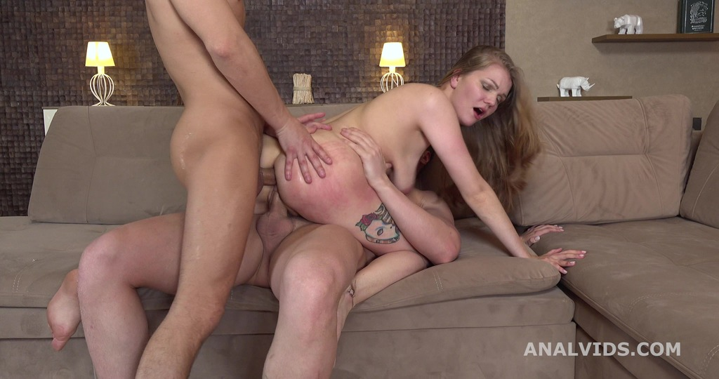 Amanda Clarke 2on1 Balls Deep Anal, DP, Gapes, Rough Sex and Swallow GL193
