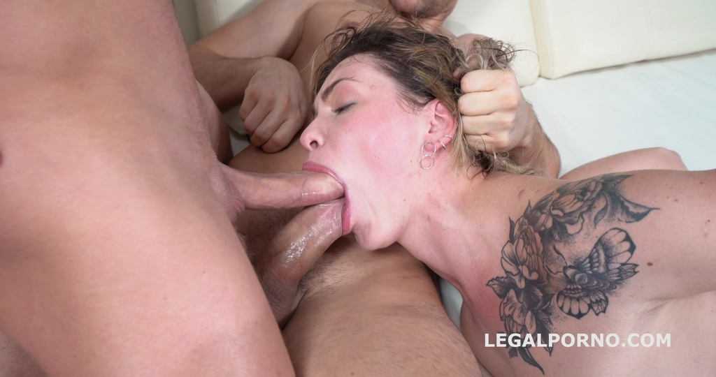 Jay Moon rough DP session with Balls Deep Action, Gapes and Cum in Mouth GL092