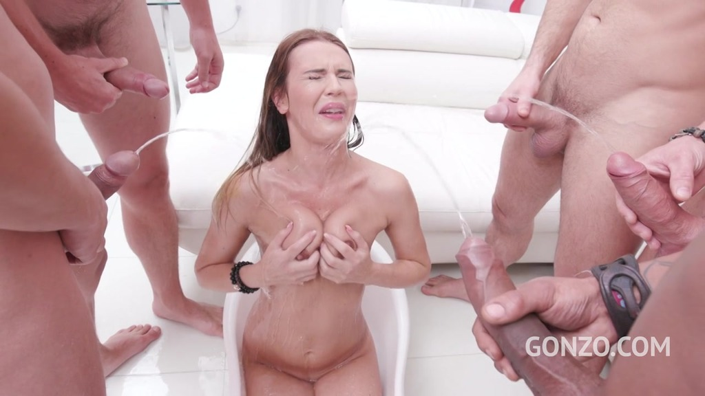 15 Men Anal gangbang with Piss drinking – Timea Bella