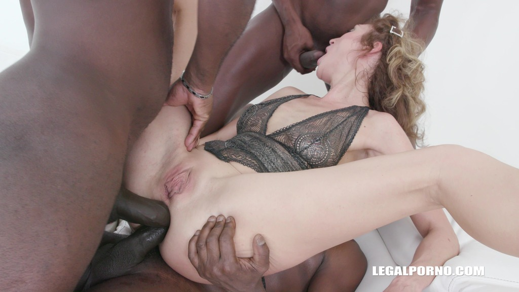 First anal & first black cocks for kinky bitch Julia North IV334