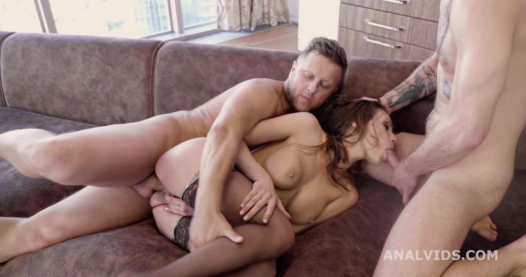 Lika Gold 2on1, ATM, Balls Deep Anal, DP, Rough Sex, Wrecked Ass, Squirt, Cum in Mouth GL512