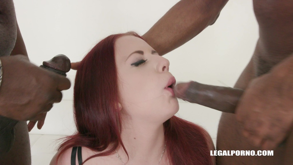 Young Stiffany Love enjoys anal sex & first time with black guys IV286