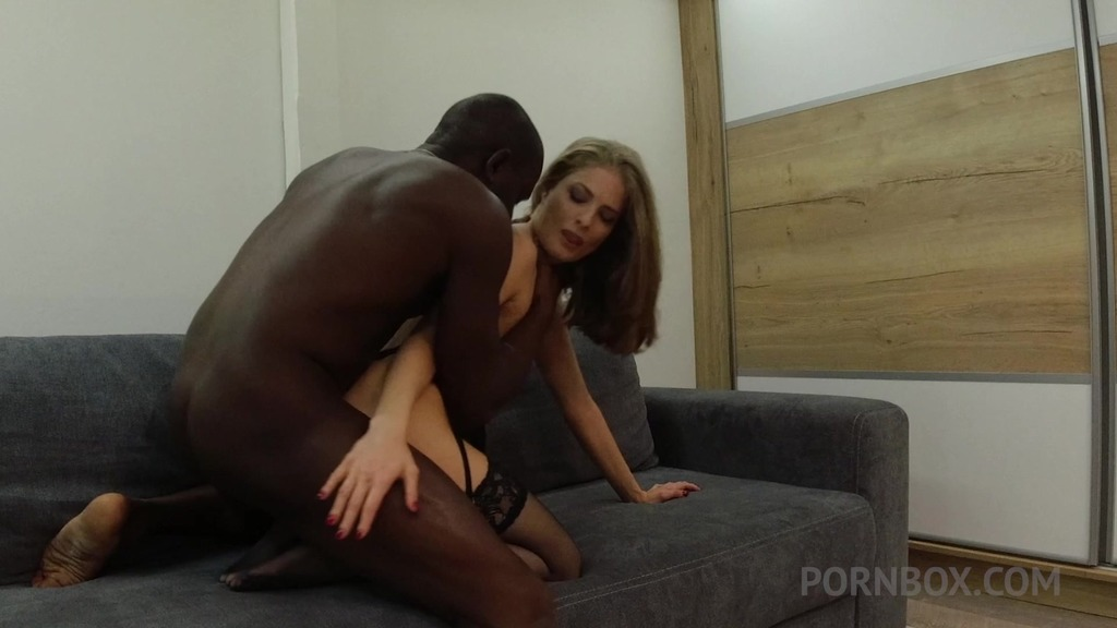 BTS quick fuck on boyfriend's sofa with Cayenne Klein OTS229