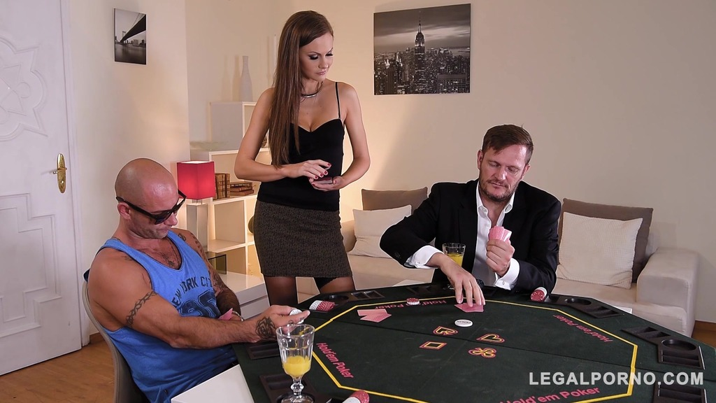 Poker Babe Tina Kay Hardcore Fucked & Double Penetrated By Two Studs GP056