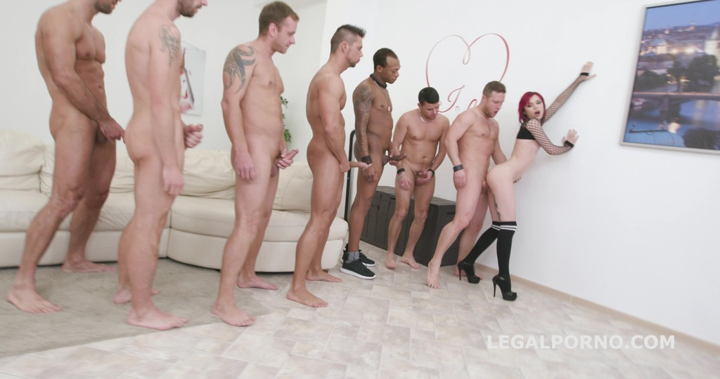7on1 Double Anal GangBang with Kira Roller Deep DAP / Airplane / Gapes / Facial -She wanted this and she loves it! GIO509