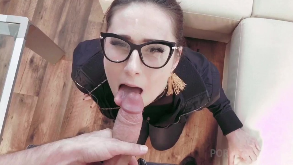 Brunette call girl Lara Fox pleases her client with blowjob & gets fucked in doggy OTS216