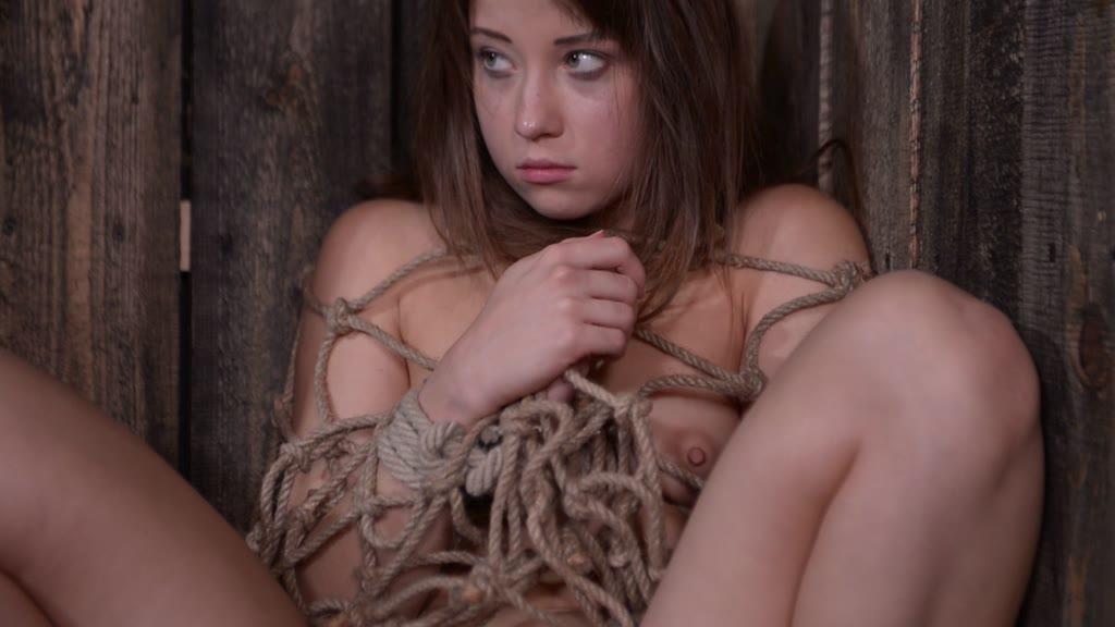 Cornered & cornholded Taissia Shanti pees during BDSM domination action GP924