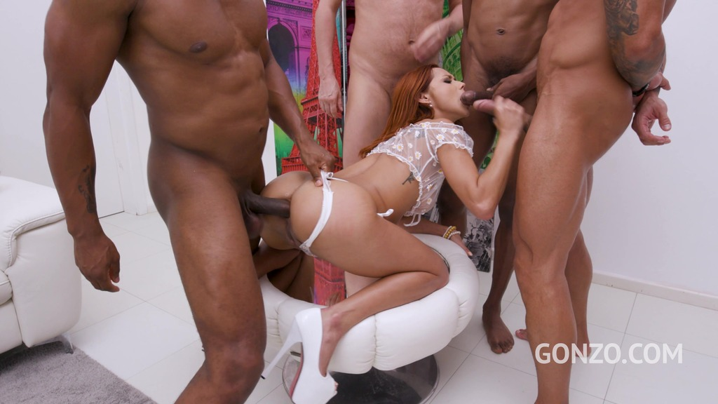Veronica Leal enjoys hardcore DP with 4 huge cocks SZ2541
