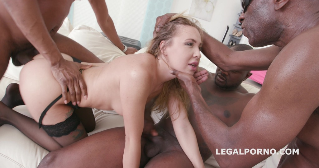 Black Buster, Mike Chapman & CO take care of Lexy Star for hard anal fucking and DP GIO204
