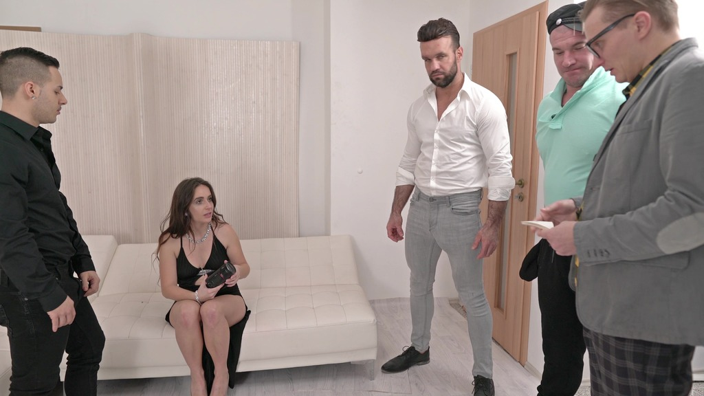 Lenna Ross first time to LP and first time with 4 guys (DP, Anal, 4on1, Facial Cumshot) NF067