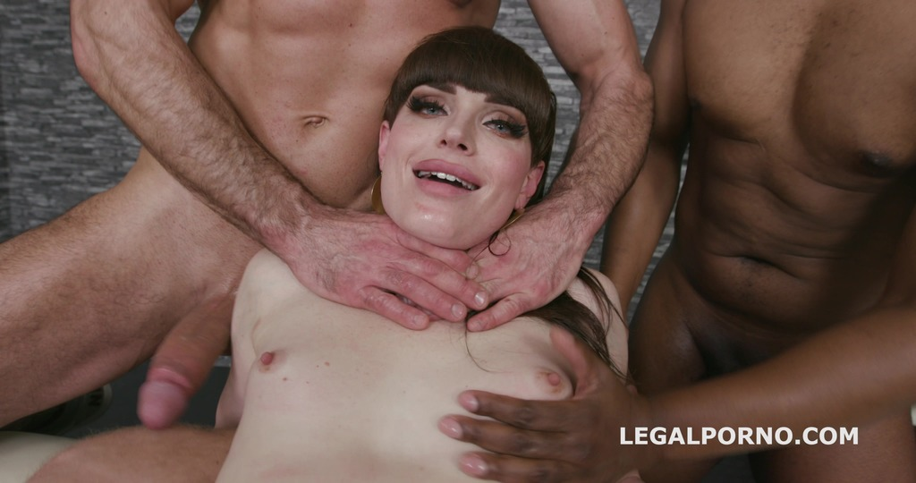 Busted T-Girls, Natalie Mars dominated and DAP'ed by 4 guys with choking and...