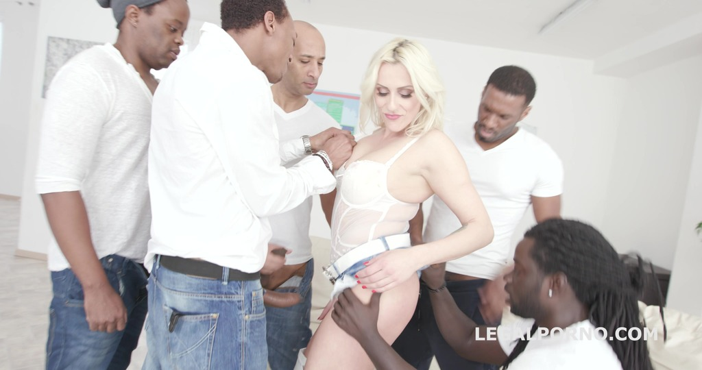 Waka Waka! Blacks are coming! Brittany Bardot 5on1 BBC with Balls Deep Anal /...