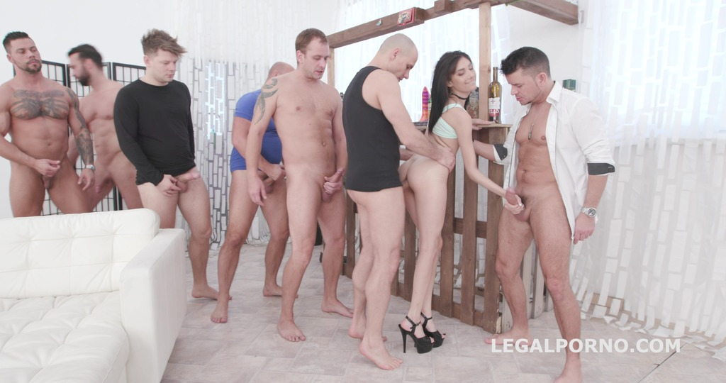 7on1 DAP Gangbang with Emily Pink, Balls Deep Anal, DAP, TP, Gapes and Swallow GIO1313