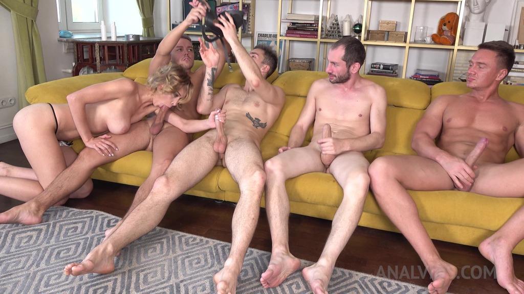 4 cocks vs 1 beauty Loren Strawberry ! HARD fucking NRX034