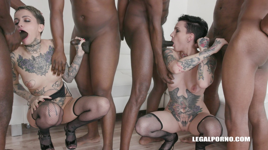 Leigh Raven & Nikki Hearts – Interracial Orgy