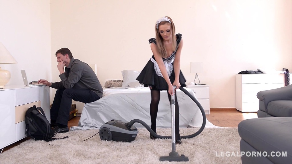 Horny maid Dominica Phoenix takes his big fat dick in mouth and asshole GP605