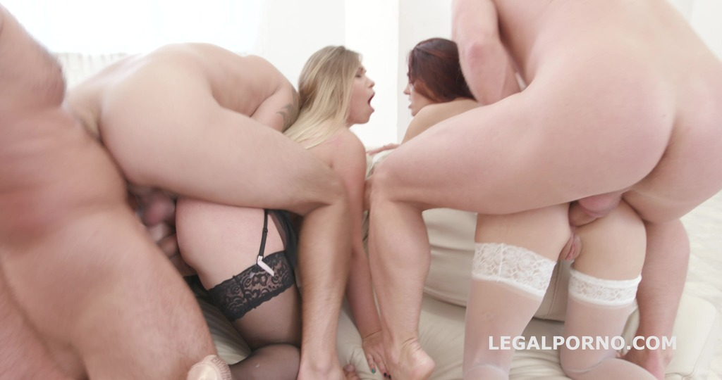 Double Addicted 5on2 with Anal Fisting Dominica Phoenix & Selvaggia No Pussy...