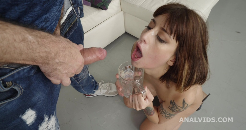 Robin's anal Casting, Silvia Soprano gets Balls Deep Anal, Gapes, DAP with toys, Pee Drink and Swallow GL273