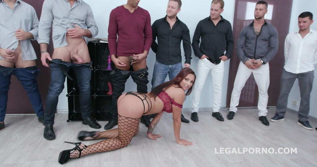 7on1 Creampie and Swallow Gangbang with Jolee Love Balls Deep Anal, Gapes,...