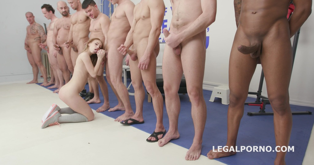 10on1 ANAL, DAP, TP gangbang with Kira Thorn with Big Gapes and 10 Swallows GIO605