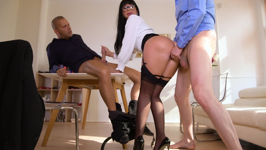 Milf boss Valentina Ricci orders double penetration threesome in the office...