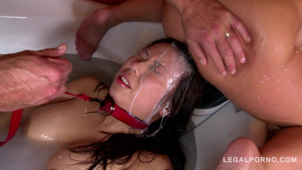 Submissive bitch Tigerr Benson Roughed up & Humiliated in Bath Tub GP013