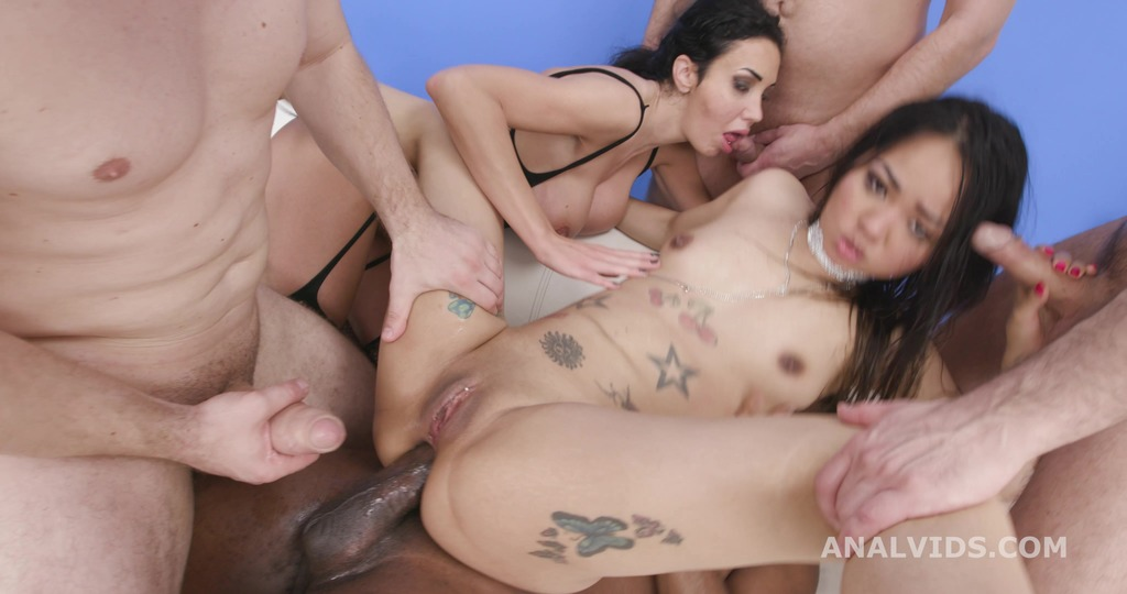 DAP and Squirt, Laura Fiorentino and Jureka Del Mar 4on2, Squirt drink, Gapes, ButtRose, ATOGM, Creampie and Swallow GIO1837