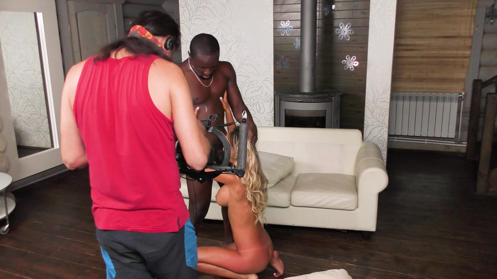 Behind the Scene #2 Monica with a black guy (dry)