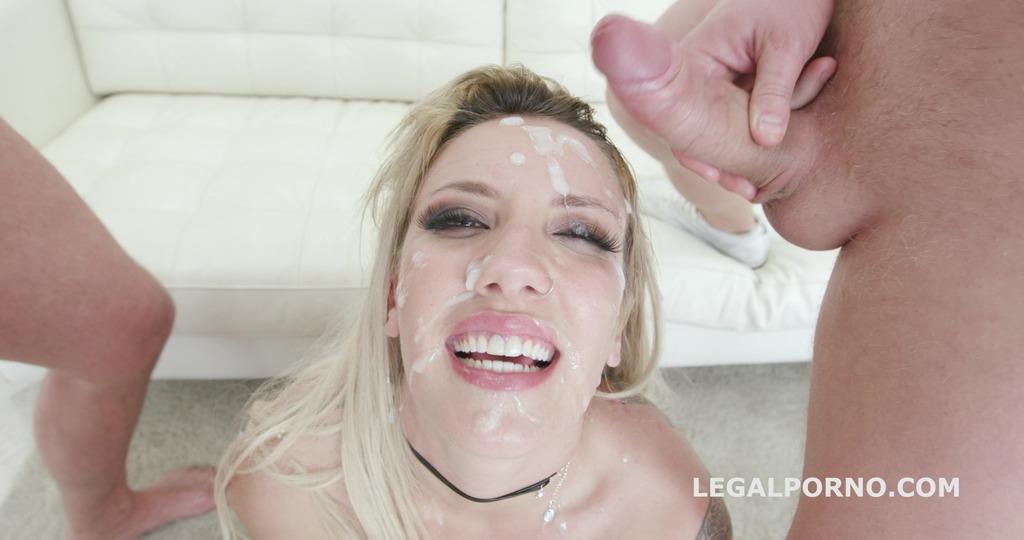 5on1 DAP & TP with Sophia Grace Balls Deep Anal, Rough Sex, Facial GL062