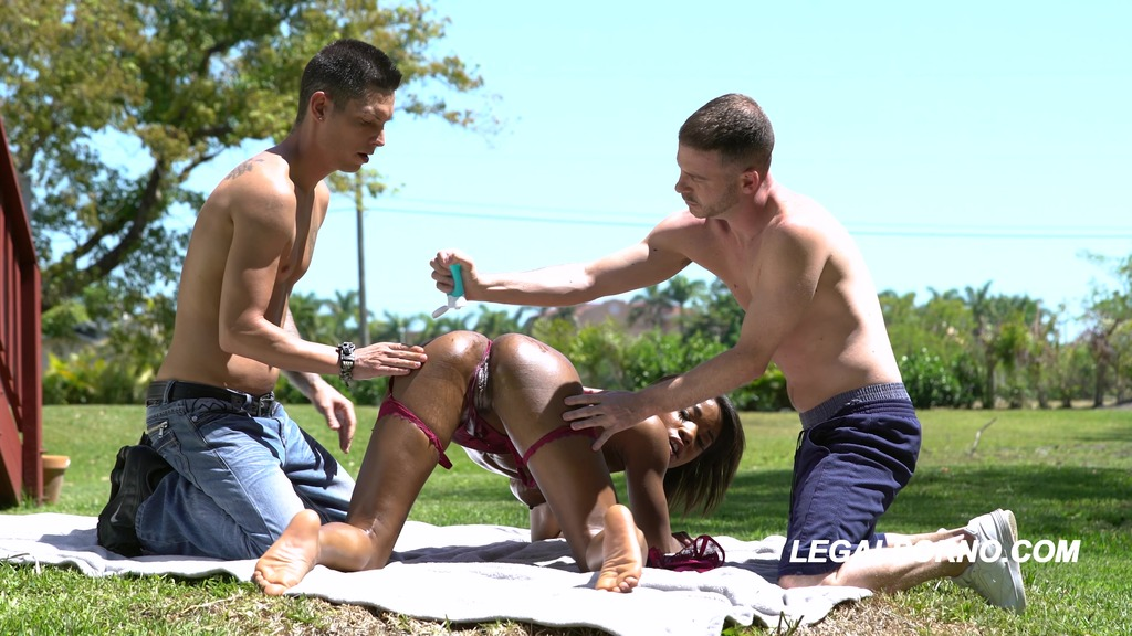 Mya Mays took all she can in this hard DP with Creampie ending AA016