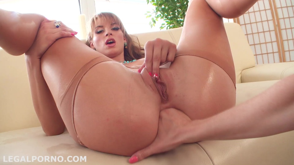GGB strap-on DP: Sh*t up & F*ck! Victoria Daniels get fisted during fuck, DP, deepthroat, ATM, farting TW004