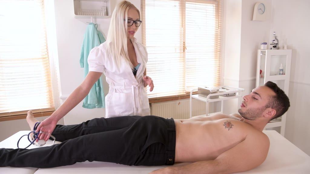 Horny nurse Angelika Grays masturbates and cums hard getting ass fucked GP1226