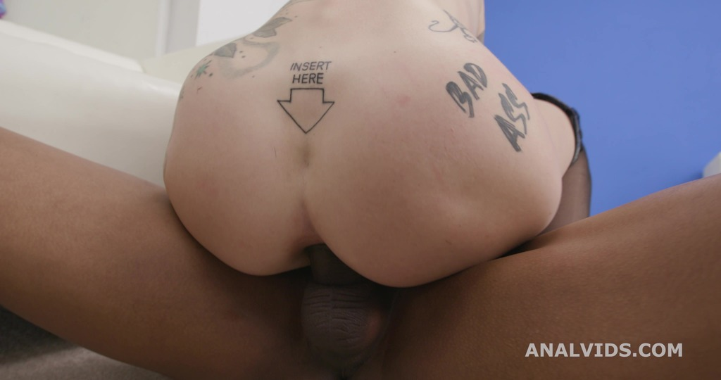 Ink Slut Sasha Beart welcome to Porn, with Crazy Balls Deep Anal and Swallow GL382