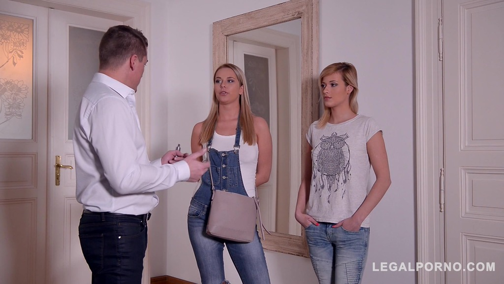 Lesbians Nikky Dream & Ria Sunn fucked by stud's big cock