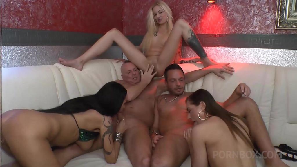 Three horny girls Vs 2 cocks OTS380