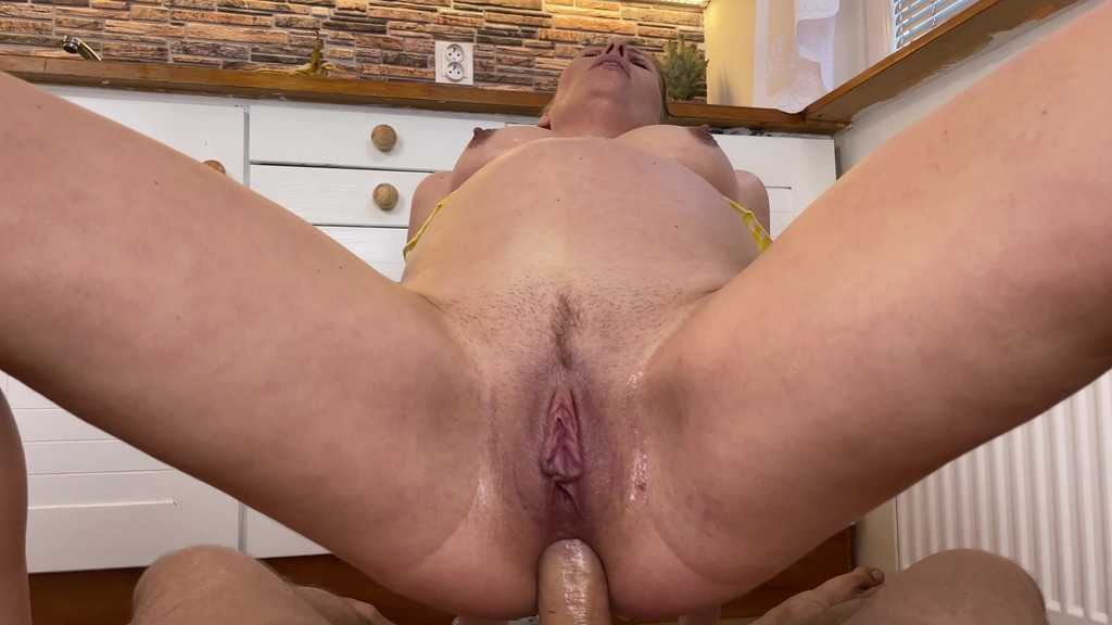 SELFIE SEX, WET and MESSY, mixed pissing, anal, piss to mouth, cum on banana