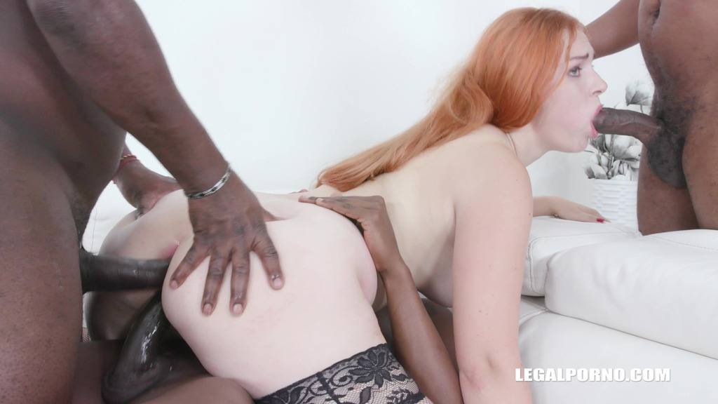 Kitty Blond fucking with 3 black guys for the first time IV504