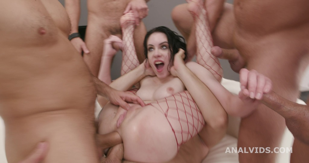 Anna de Ville Vs 6 with Balls Deep Anal, DAP, Monster Gapes and Swallow GIO1602