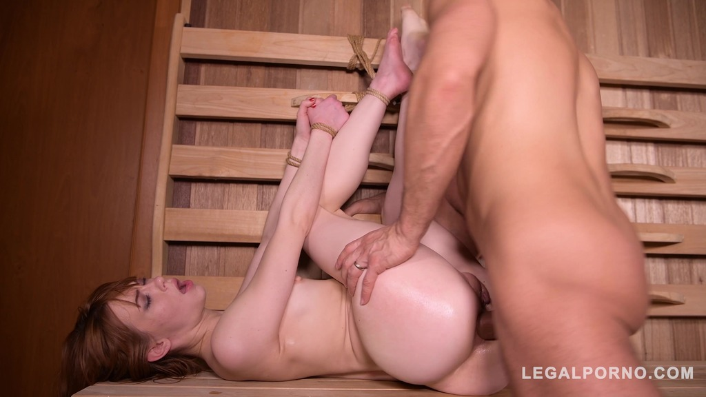 Sauna anal penetration makes petite Redhead Alexa Nova scream for more GP441