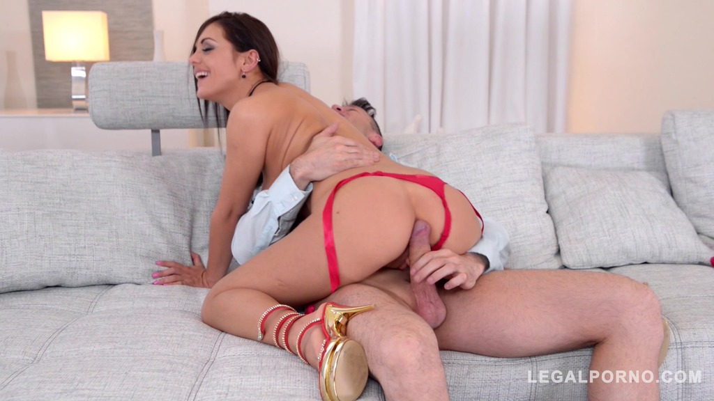 Brunette college student Dominica Phoenix rides dick with her tight asshole GP857