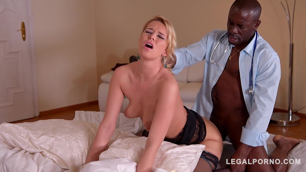 Docs big black dick makes busty horny patient Nikky Dreams pussy wet AF GP500