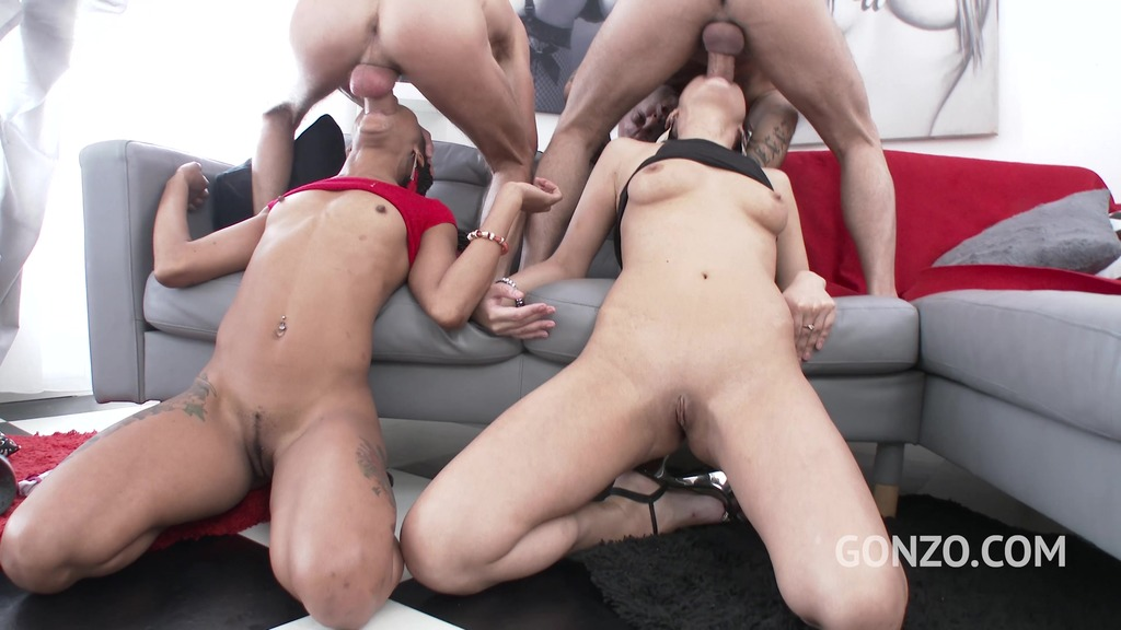 You want hot, horny and hardcore!? Angie Moon vs Nikki Darling 2on2 DAP SZ1777