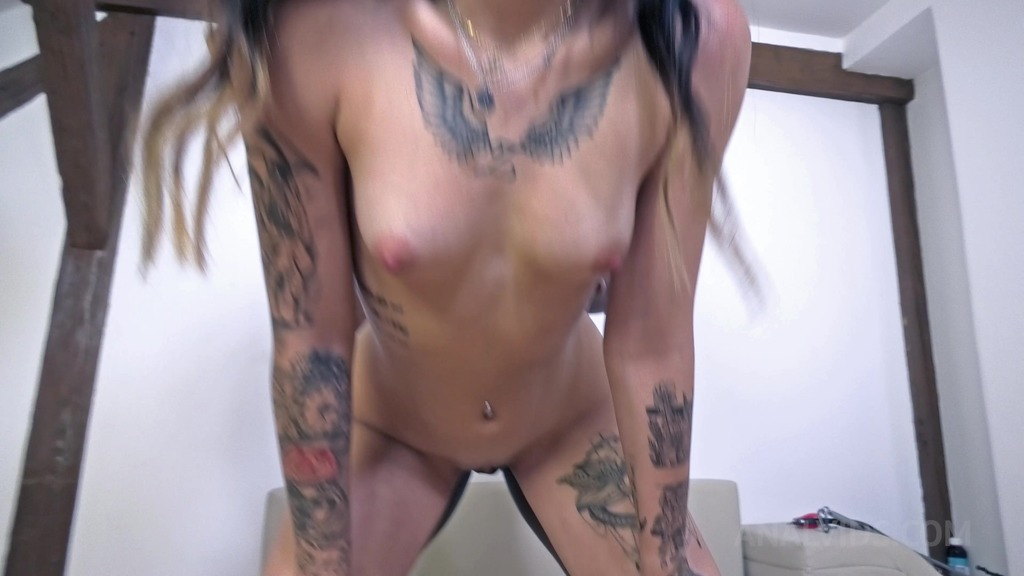 Hardcore BDSM threesome with Lady Zee (DAP, Deepthroat, Piss Drinking) NF024