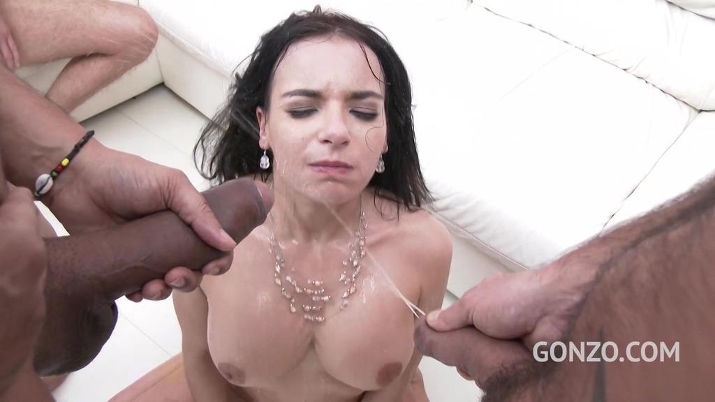 Piss drinking slut Sophia Laure assfucked, DP'd, DVP'd & pissed all over SZ1917