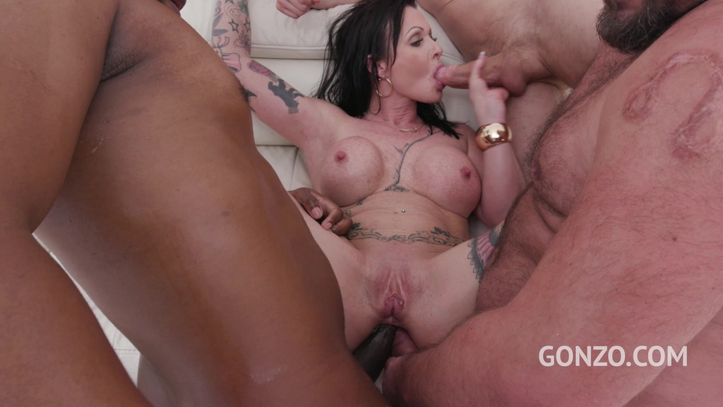 Julia Exclusiv eats anal creampies after 4 guys fuck her balls deep with DP &...