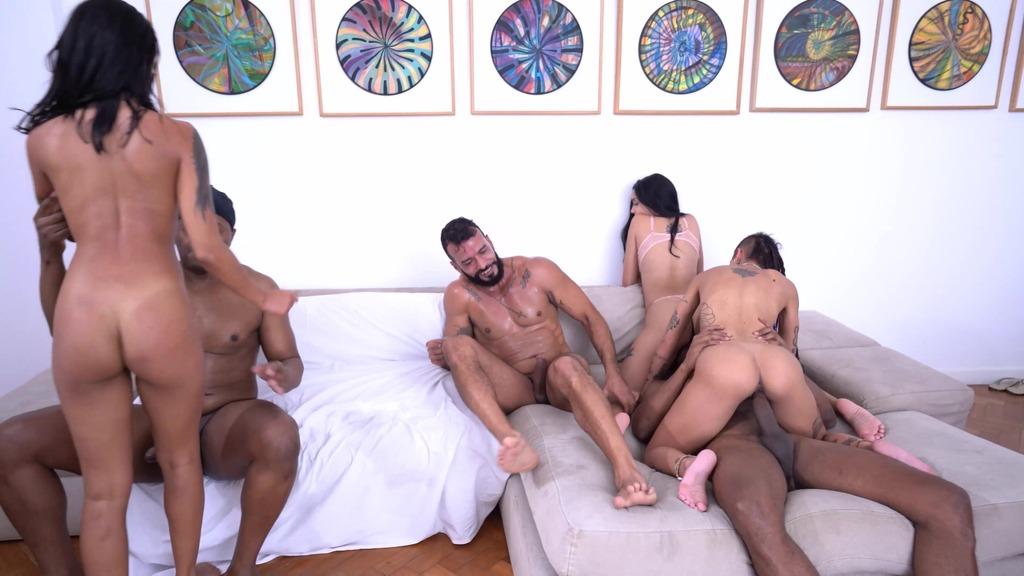 House of deviance: reality sex show and first ever DP of EVA (DAP, PEE, 3on3, voyeurism, balls deep, gapes) OB015
