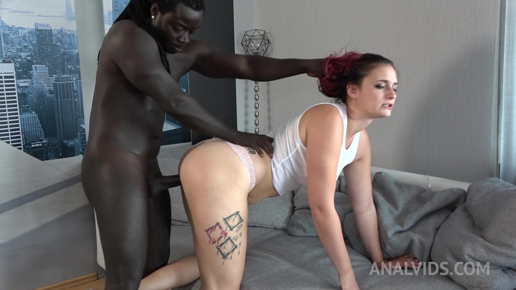 Interracial anal fucking at home with thick german model Melina May OTS043