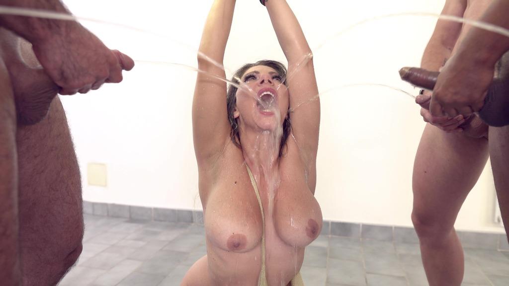 Lilly Veroni BDSM bound Gangbang. 0% pussy 5v1 DAP Deepthroat Piss bbc Facial cumshot + Bonus Behind the scene NF125